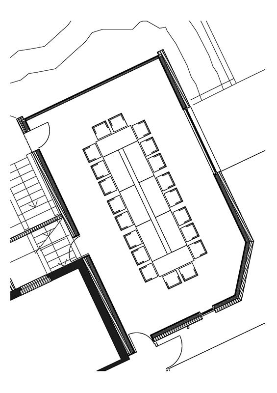 Bestuhlungsvorschlag Seminarraum Hotel Cresta Flims