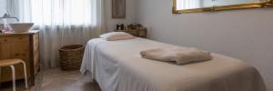 Massageraum in unseren Wellnesshotel in den Flimser Bergen