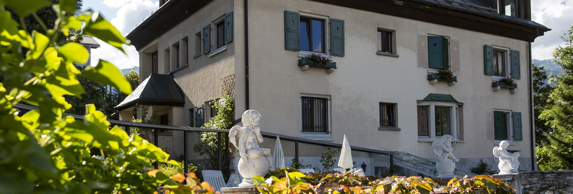 Villa Selva, eines der Nebenhäuser im Schweizer Berghotel Cresta Flims