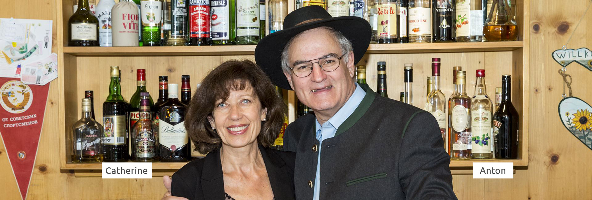 Catherine und Anton Sgier - Hoteleigentümer