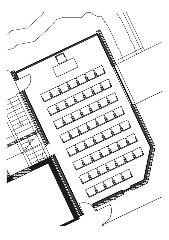 Theaterbestuhlung Seminarraum Hotel Cresta Flims