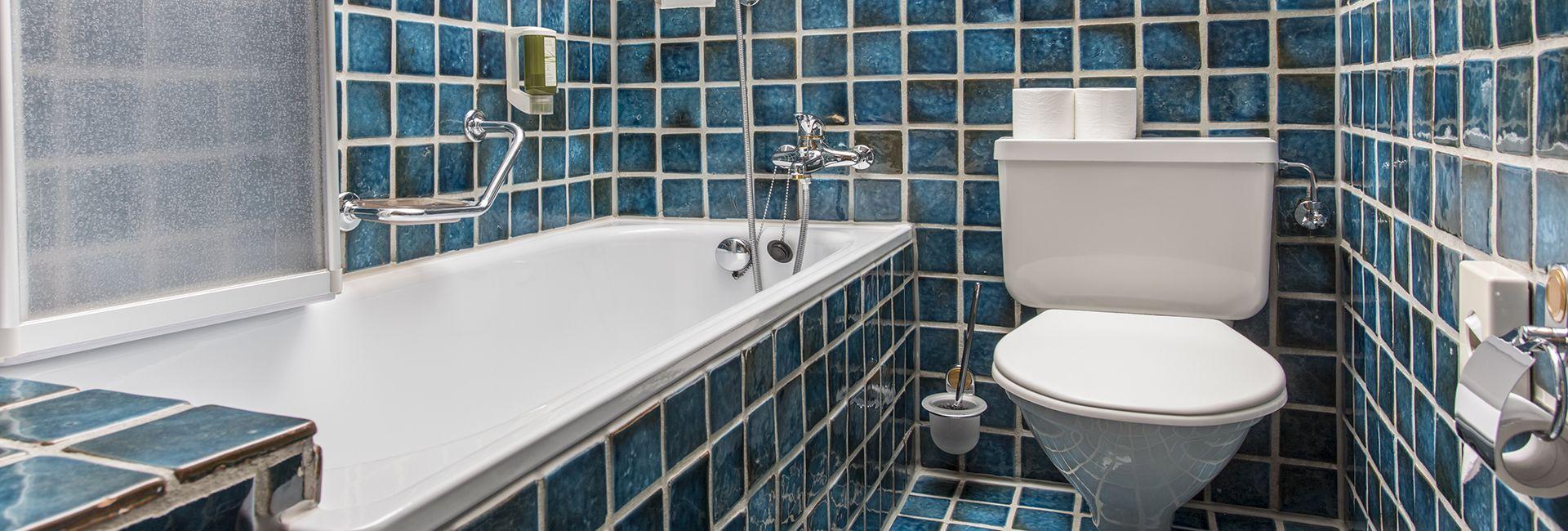 Badezimmer Beispiel im Hotel Cresta Flims
