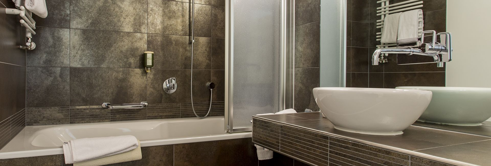 Badezimmer Casa Juliana, Hotel Cresta Flims