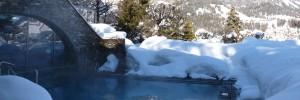 Beheizter Pool im Wellnesshotel Cresta Flims, Schweiz